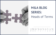 Mergers and Acquisitions: Heads of Terms