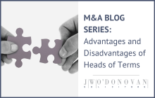 Mergers and Acquisitions: Advantages and Disadvantages of using Heads of Terms